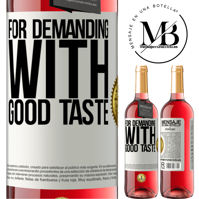 24,95 € Free Shipping   Rosé Wine ROSÉ Edition For demanding with good taste White Label. Customizable label Young wine Harvest 2020 Tempranillo