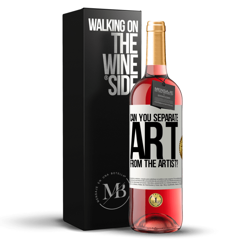 24,95 € Free Shipping   Rosé Wine ROSÉ Edition can you separate art from the artist? White Label. Customizable label Young wine Harvest 2020 Tempranillo