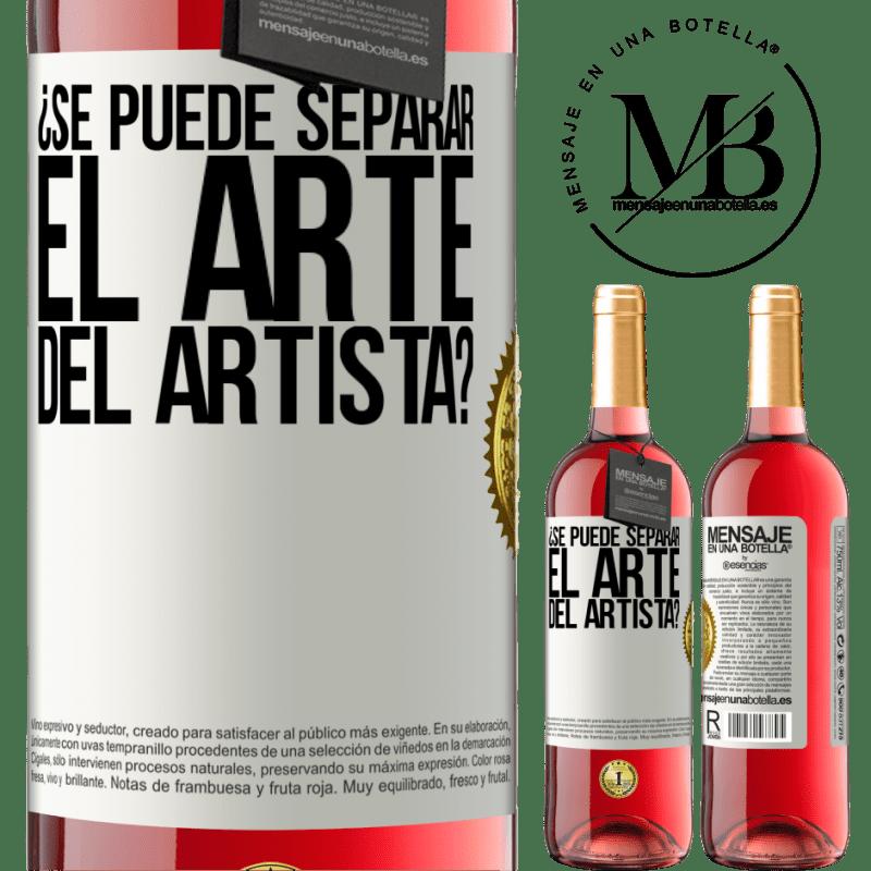 24,95 € Envoi gratuit | Vin rosé Édition ROSÉ pouvez-vous séparer l'art de l'artiste? Étiquette Blanche. Étiquette personnalisable Vin jeune Récolte 2020 Tempranillo