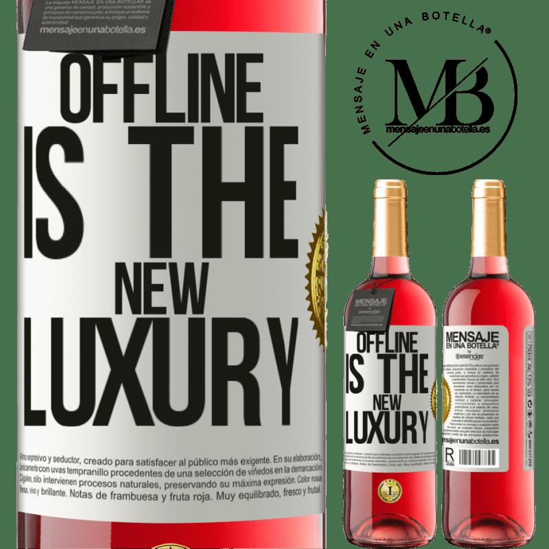 24,95 € Envoi gratuit | Vin rosé Édition ROSÉ Offline is the new luxury Étiquette Blanche. Étiquette personnalisable Vin jeune Récolte 2020 Tempranillo