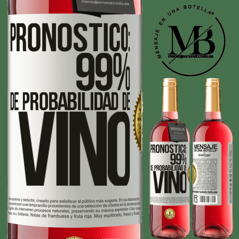 24,95 € Envoi gratuit   Vin rosé Édition ROSÉ Prévision: 99% de chances de vin Étiquette Blanche. Étiquette personnalisable Vin jeune Récolte 2020 Tempranillo
