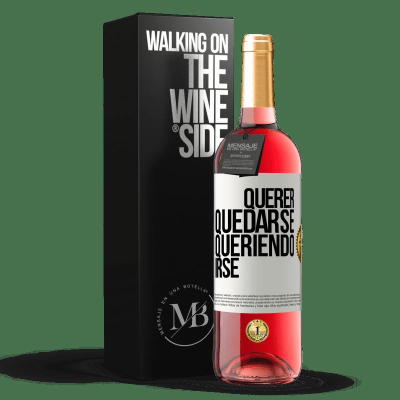 24,95 € Envoi gratuit   Vin rosé Édition ROSÉ Vouloir rester vouloir partir Étiquette Blanche. Étiquette personnalisable Vin jeune Récolte 2020 Tempranillo