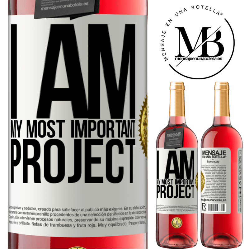24,95 € Free Shipping   Rosé Wine ROSÉ Edition I am my most important project White Label. Customizable label Young wine Harvest 2020 Tempranillo