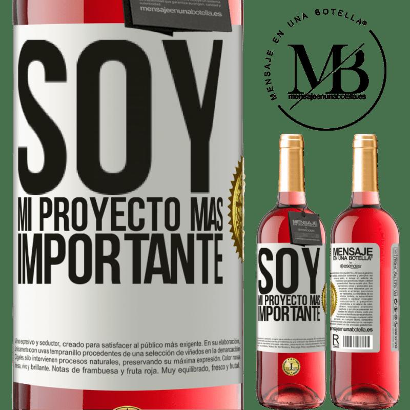 24,95 € Envoi gratuit | Vin rosé Édition ROSÉ Je suis mon projet le plus important Étiquette Blanche. Étiquette personnalisable Vin jeune Récolte 2020 Tempranillo