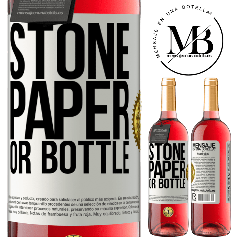 24,95 € Free Shipping | Rosé Wine ROSÉ Edition Stone, paper or bottle White Label. Customizable label Young wine Harvest 2020 Tempranillo