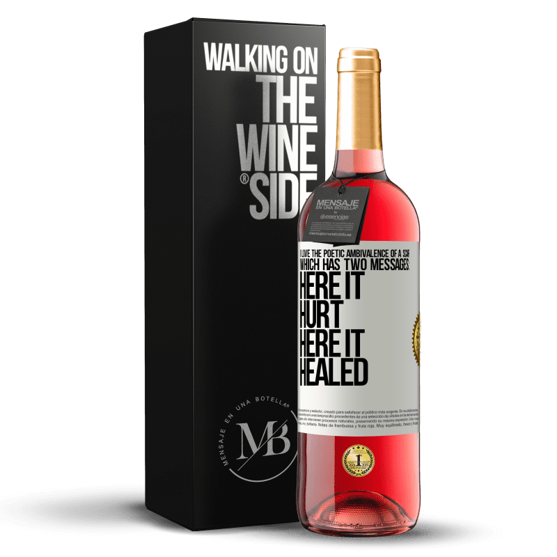 24,95 € Free Shipping | Rosé Wine ROSÉ Edition I love the poetic ambivalence of a scar, which has two messages: here it hurt, here it healed White Label. Customizable label Young wine Harvest 2020 Tempranillo
