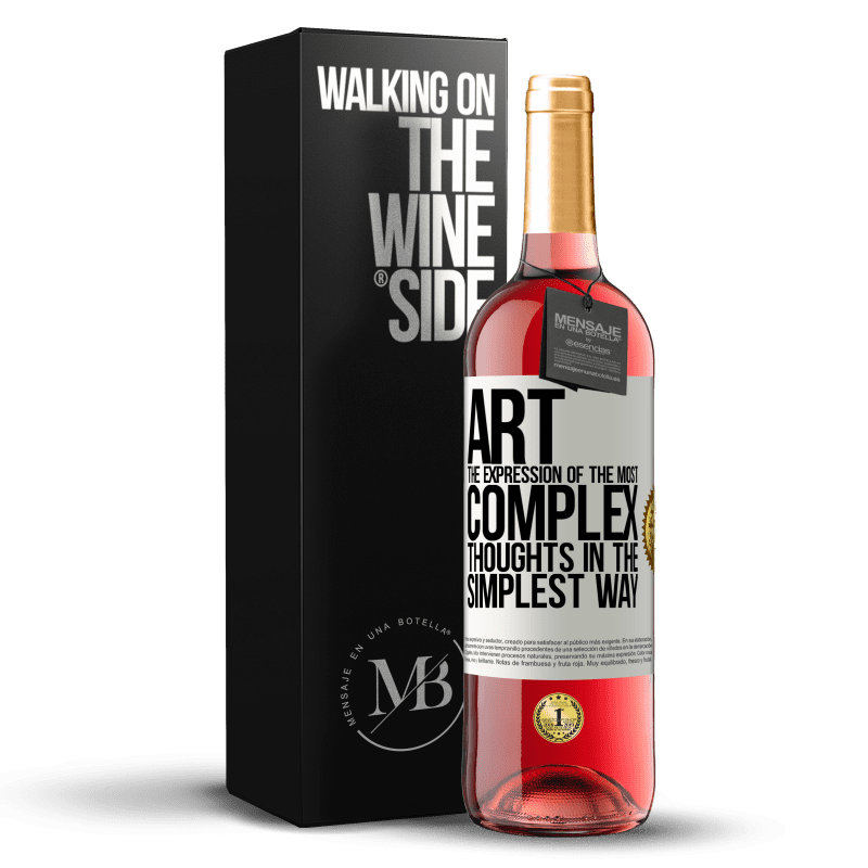24,95 € Free Shipping | Rosé Wine ROSÉ Edition ART. The expression of the most complex thoughts in the simplest way White Label. Customizable label Young wine Harvest 2020 Tempranillo