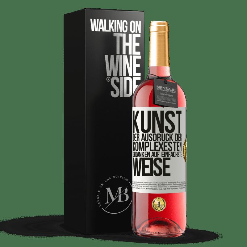 24,95 € Kostenloser Versand   Roséwein ROSÉ Ausgabe KUNST. Der Ausdruck der komplexesten Gedanken auf einfachste Weise Weißes Etikett. Anpassbares Etikett Junger Wein Ernte 2020 Tempranillo