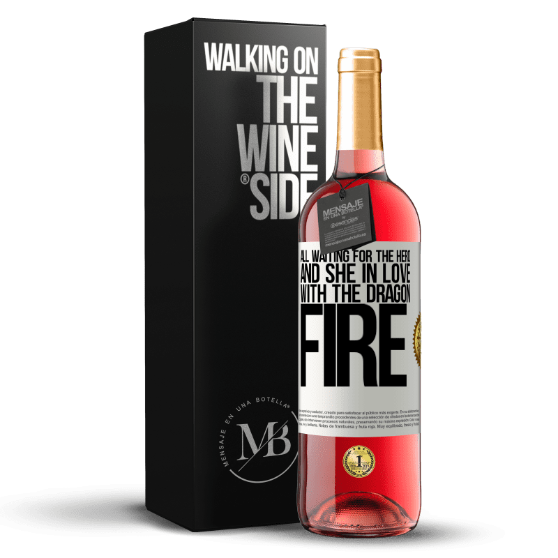 24,95 € Free Shipping | Rosé Wine ROSÉ Edition All waiting for the hero and she in love with the dragon fire White Label. Customizable label Young wine Harvest 2020 Tempranillo