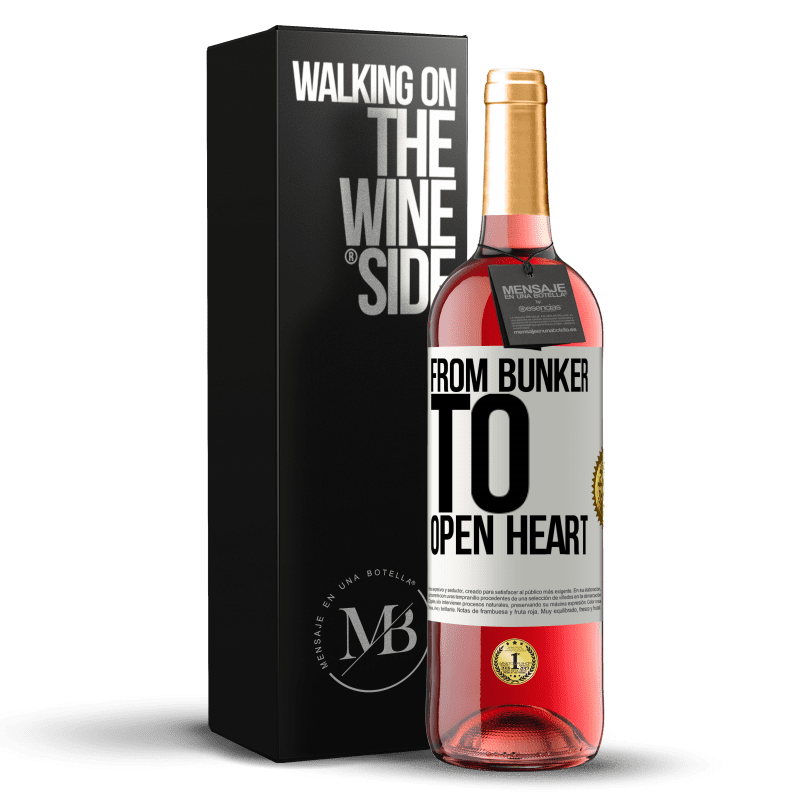 24,95 € Free Shipping   Rosé Wine ROSÉ Edition From bunker to open heart White Label. Customizable label Young wine Harvest 2020 Tempranillo