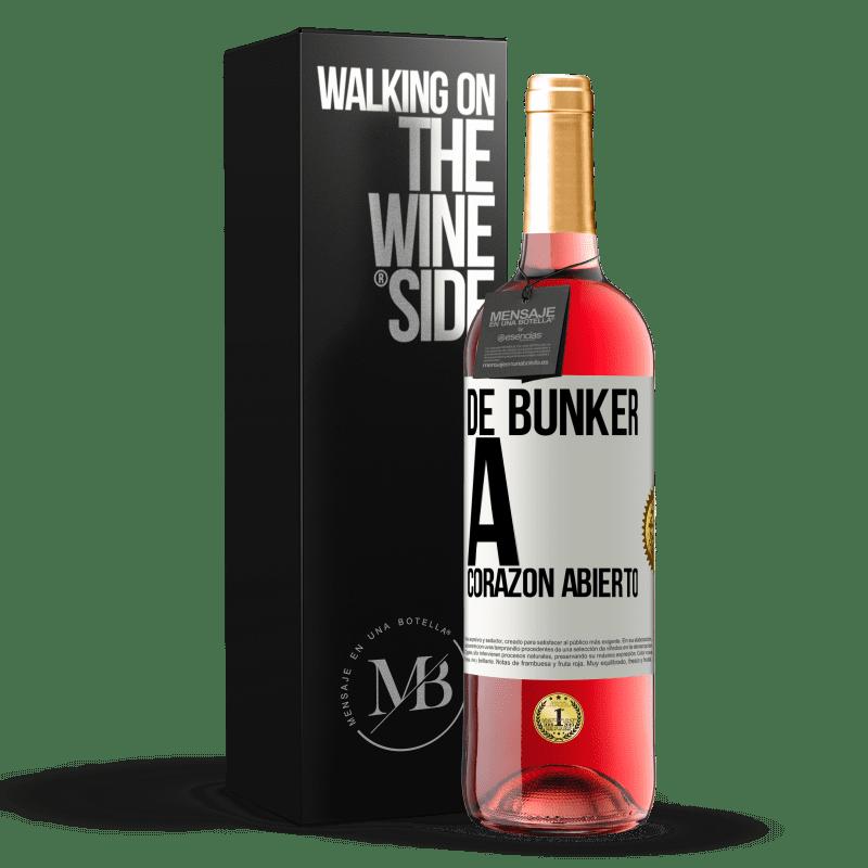 24,95 € Envoi gratuit   Vin rosé Édition ROSÉ Du bunker au cœur ouvert Étiquette Blanche. Étiquette personnalisable Vin jeune Récolte 2020 Tempranillo