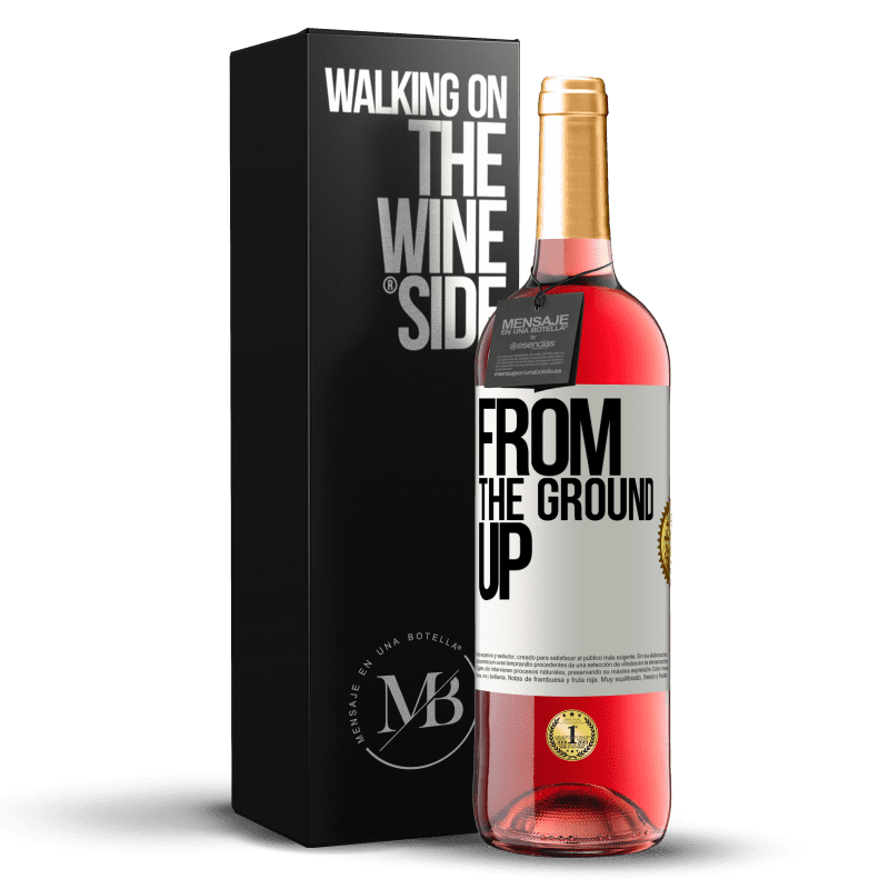 24,95 € Free Shipping | Rosé Wine ROSÉ Edition From The Ground Up White Label. Customizable label Young wine Harvest 2020 Tempranillo