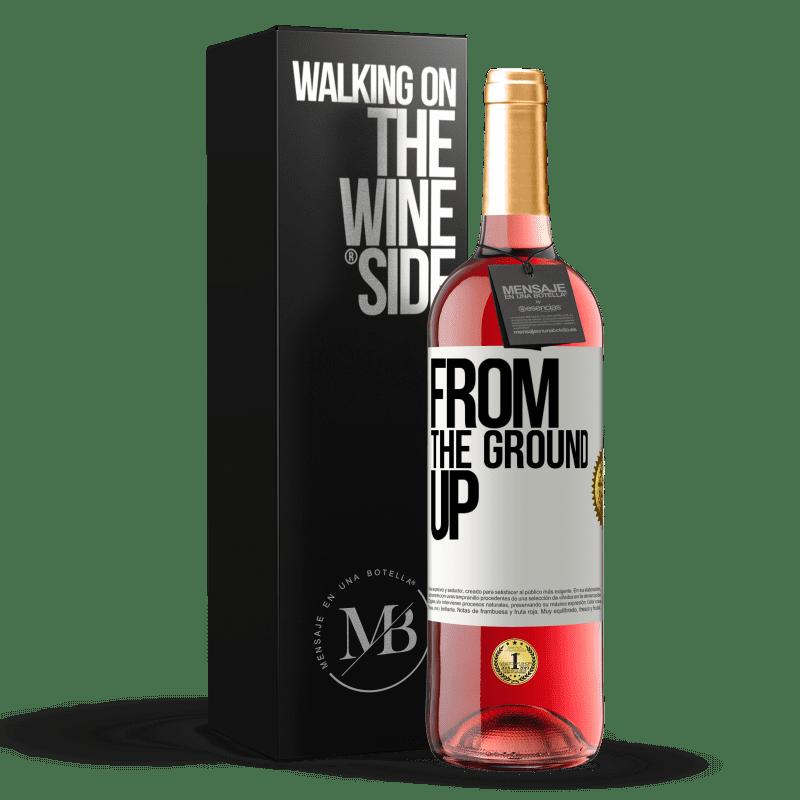 24,95 € Envoi gratuit | Vin rosé Édition ROSÉ From The Ground Up Étiquette Blanche. Étiquette personnalisable Vin jeune Récolte 2020 Tempranillo