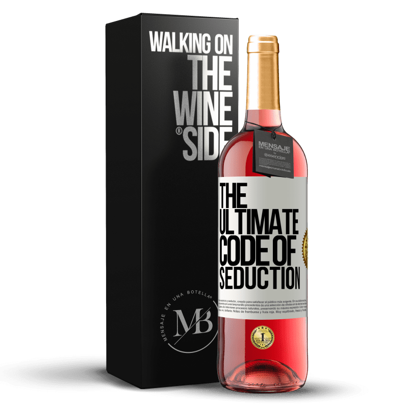 24,95 € Free Shipping | Rosé Wine ROSÉ Edition The ultimate code of seduction White Label. Customizable label Young wine Harvest 2020 Tempranillo