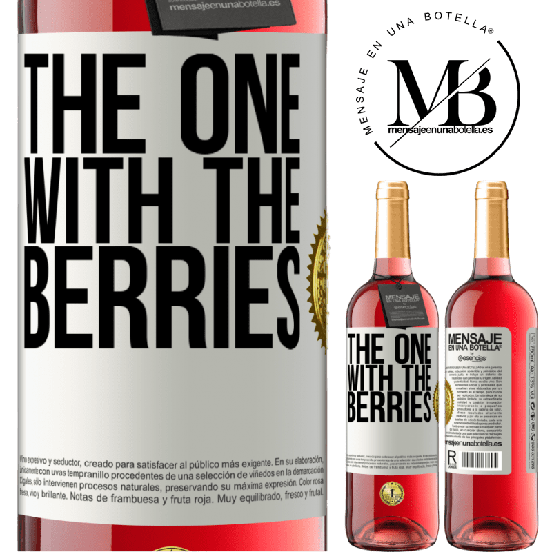 24,95 € Free Shipping | Rosé Wine ROSÉ Edition The one with the berries White Label. Customizable label Young wine Harvest 2020 Tempranillo
