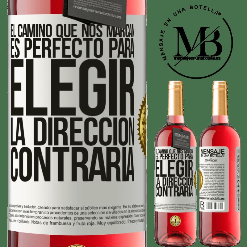 24,95 € Envoi gratuit   Vin rosé Édition ROSÉ La route qui nous marque est parfaite pour choisir la direction opposée Étiquette Blanche. Étiquette personnalisable Vin jeune Récolte 2020 Tempranillo