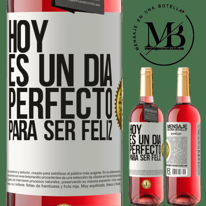 24,95 € Envoi gratuit | Vin rosé Édition ROSÉ Aujourd'hui est une journée parfaite pour être heureux Étiquette Blanche. Étiquette personnalisable Vin jeune Récolte 2020 Tempranillo
