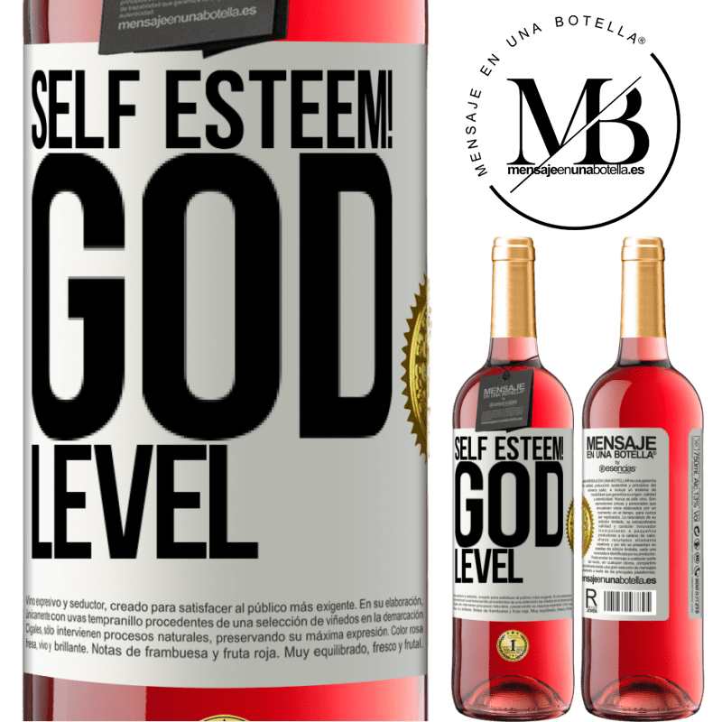 24,95 € Free Shipping   Rosé Wine ROSÉ Edition Self esteem! God level White Label. Customizable label Young wine Harvest 2020 Tempranillo