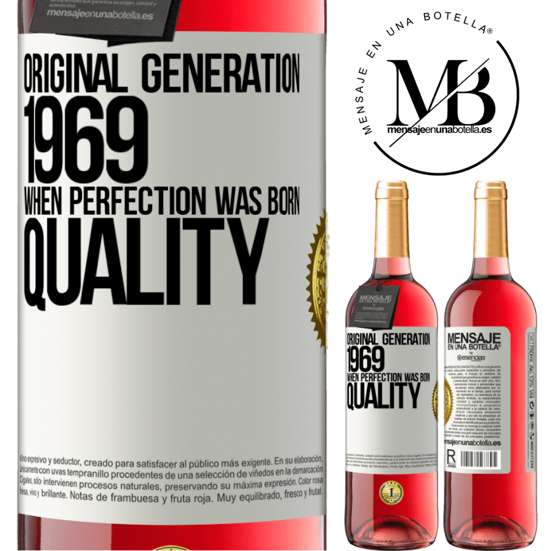 24,95 € Free Shipping | Rosé Wine ROSÉ Edition Original generation. 1969. When perfection was born. Quality White Label. Customizable label Young wine Harvest 2020 Tempranillo