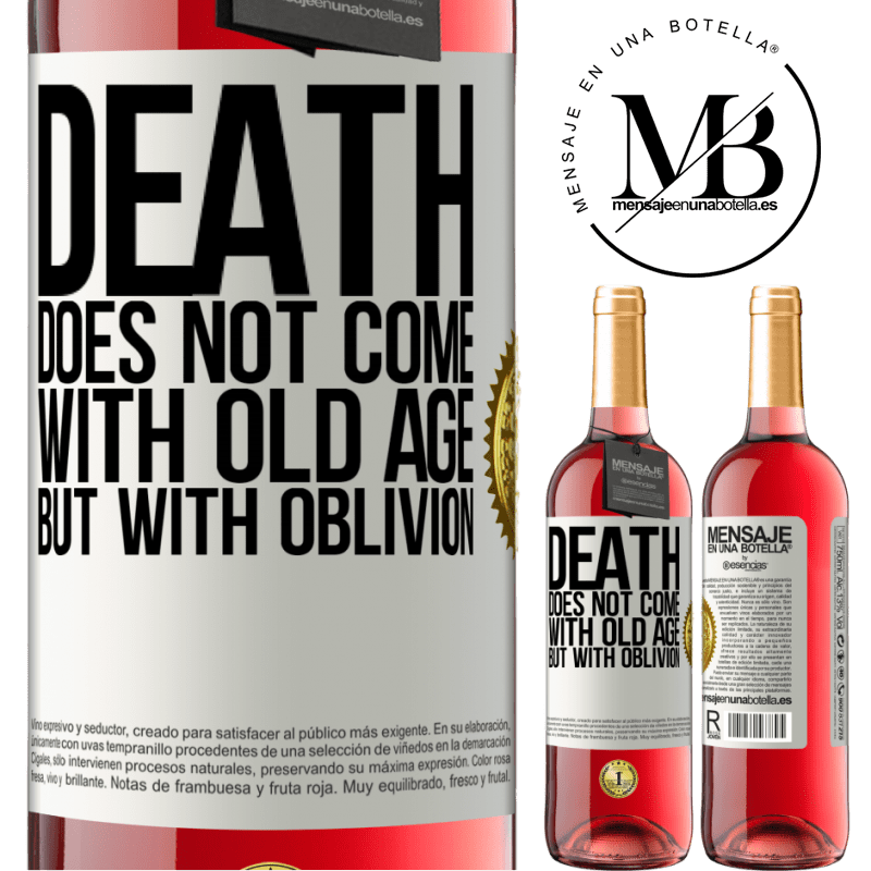 24,95 € Free Shipping   Rosé Wine ROSÉ Edition Death does not come with old age, but with oblivion White Label. Customizable label Young wine Harvest 2020 Tempranillo