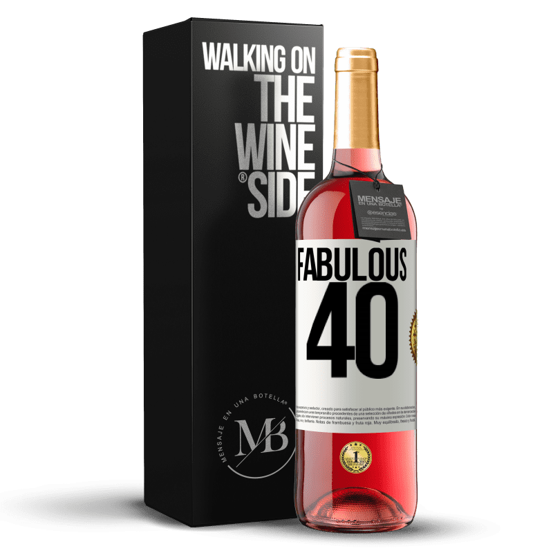 24,95 € Free Shipping | Rosé Wine ROSÉ Edition Fabulous 40 White Label. Customizable label Young wine Harvest 2020 Tempranillo