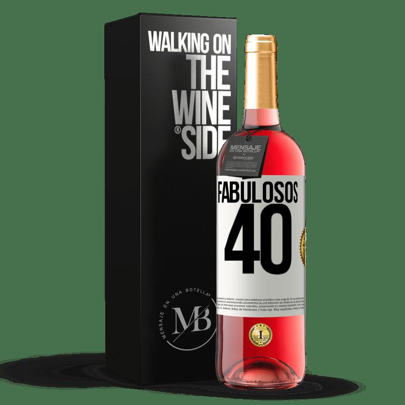 24,95 € Envoi gratuit | Vin rosé Édition ROSÉ Fabuleux 40 Étiquette Blanche. Étiquette personnalisable Vin jeune Récolte 2020 Tempranillo