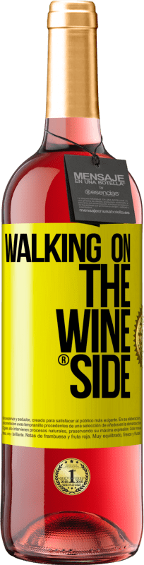 24,95 € | Rosé Wine ROSÉ Edition Walking on the Wine Side® Yellow Label. Customizable label Young wine Harvest 2020 Tempranillo