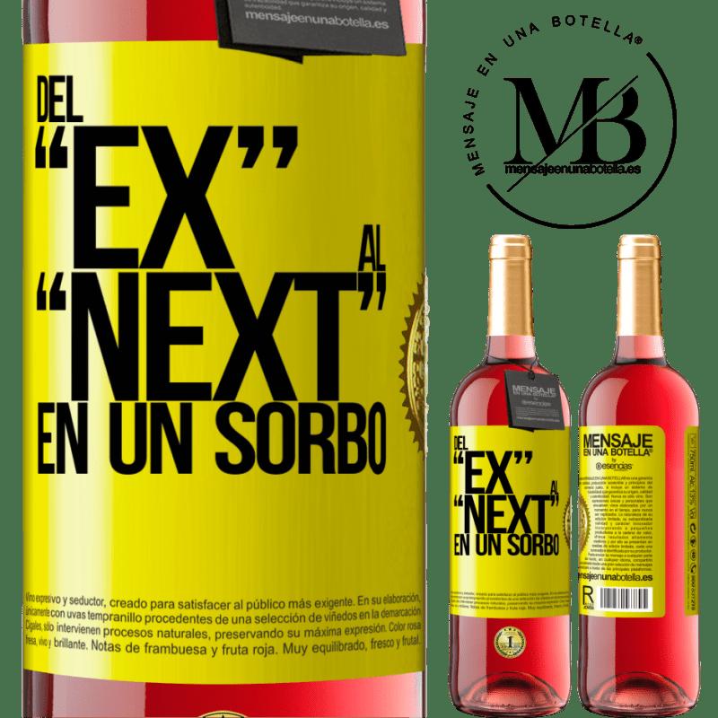 24,95 € Kostenloser Versand   Roséwein ROSÉ Ausgabe Del EX al NEXT en un sorbo Gelbes Etikett. Anpassbares Etikett Junger Wein Ernte 2020 Tempranillo