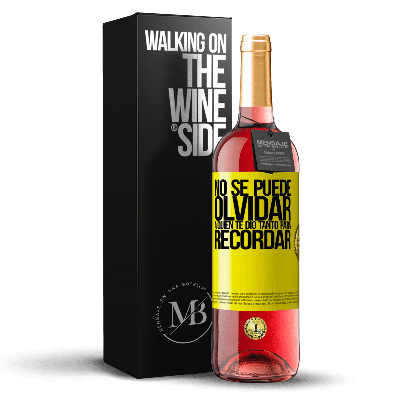 24,95 € Envoi gratuit | Vin rosé Édition ROSÉ Vous ne pouvez pas oublier qui vous a tant donné à retenir Étiquette Jaune. Étiquette personnalisable Vin jeune Récolte 2020 Tempranillo