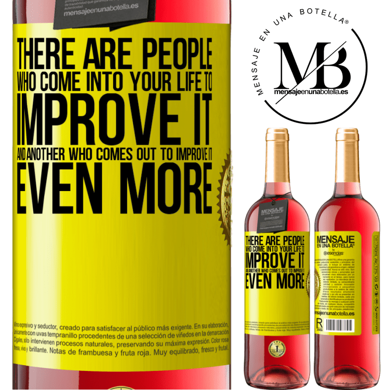 24,95 € Free Shipping | Rosé Wine ROSÉ Edition There are people who come into your life to improve it and another who comes out to improve it even more Yellow Label. Customizable label Young wine Harvest 2020 Tempranillo