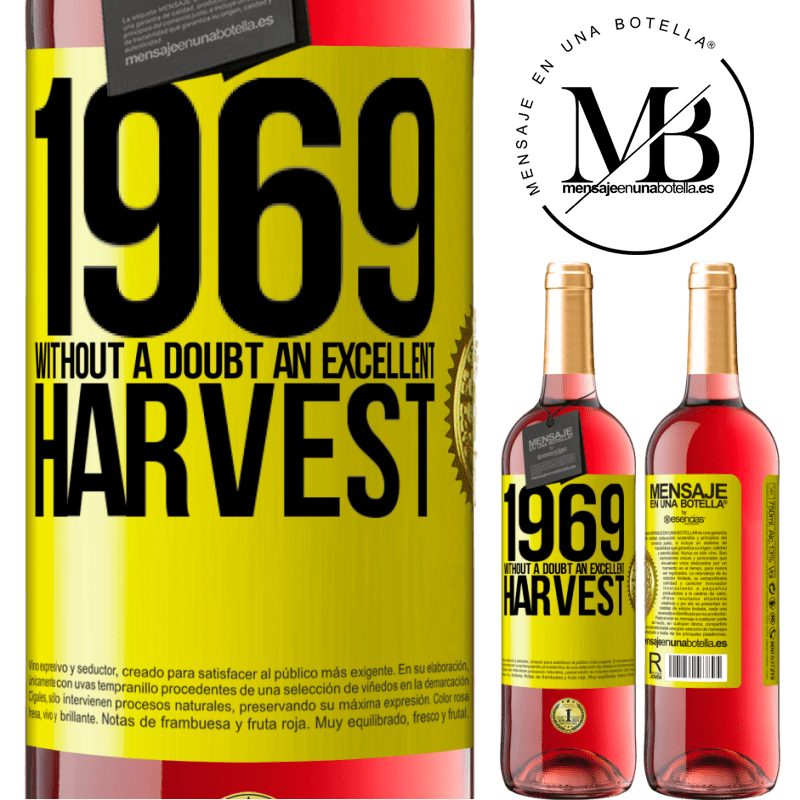 24,95 € Free Shipping | Rosé Wine ROSÉ Edition 1969. Without a doubt, an excellent harvest Yellow Label. Customizable label Young wine Harvest 2020 Tempranillo
