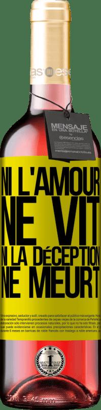 24,95 € Envoi gratuit | Vin rosé Édition ROSÉ Ni l'amour ne vit, ni la déception ne meurt Étiquette Jaune. Étiquette personnalisable Vin jeune Récolte 2020 Tempranillo