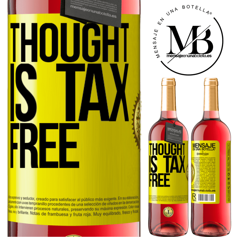 24,95 € Free Shipping   Rosé Wine ROSÉ Edition Thought is tax free Yellow Label. Customizable label Young wine Harvest 2020 Tempranillo