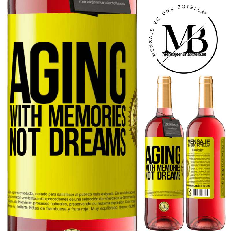 24,95 € Free Shipping | Rosé Wine ROSÉ Edition Aging with memories, not dreams Yellow Label. Customizable label Young wine Harvest 2020 Tempranillo