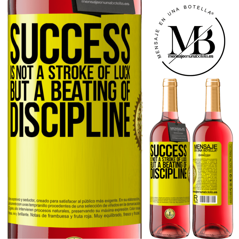 24,95 € Free Shipping | Rosé Wine ROSÉ Edition Success is not a stroke of luck, but a beating of discipline Yellow Label. Customizable label Young wine Harvest 2020 Tempranillo