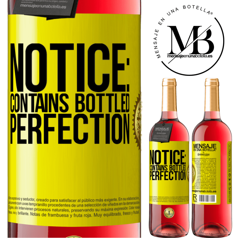 24,95 € Free Shipping   Rosé Wine ROSÉ Edition Notice: contains bottled perfection Yellow Label. Customizable label Young wine Harvest 2020 Tempranillo