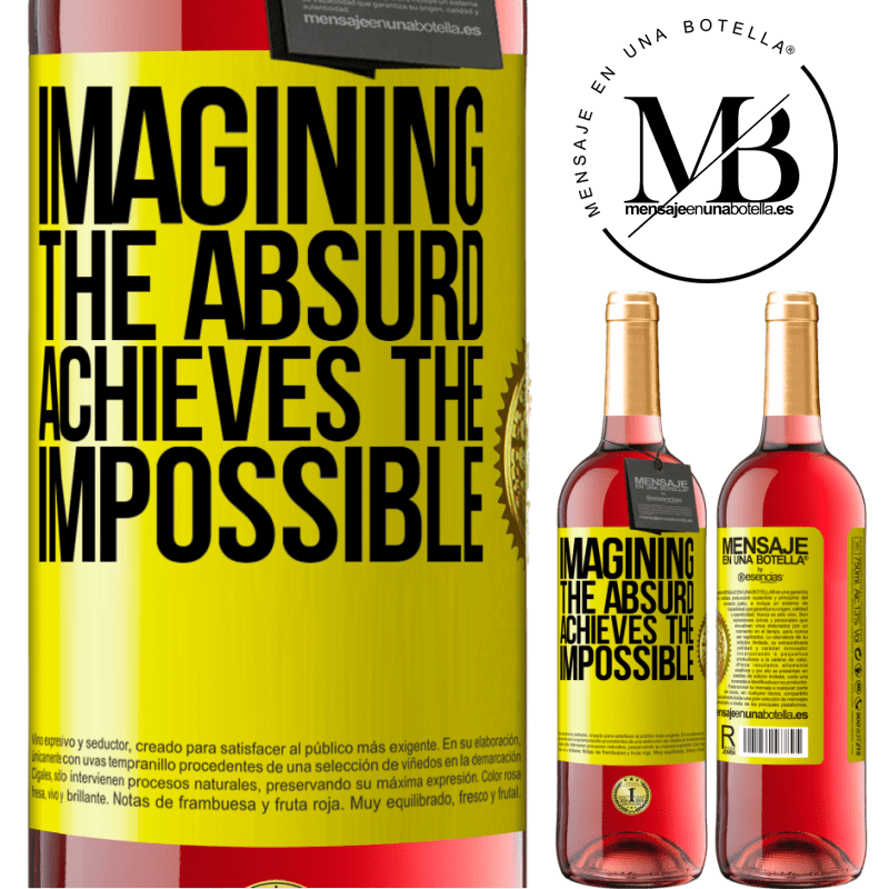 24,95 € Free Shipping | Rosé Wine ROSÉ Edition Imagining the absurd achieves the impossible Yellow Label. Customizable label Young wine Harvest 2020 Tempranillo