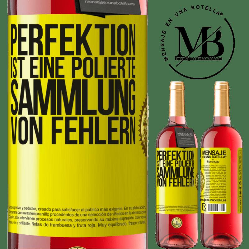 24,95 € Kostenloser Versand | Roséwein ROSÉ Ausgabe Perfektion ist eine polierte Sammlung von Fehlern Gelbes Etikett. Anpassbares Etikett Junger Wein Ernte 2020 Tempranillo
