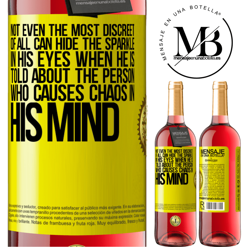 24,95 € Free Shipping   Rosé Wine ROSÉ Edition Not even the most discreet of all can hide the sparkle in his eyes when he is told about the person who causes chaos in his Yellow Label. Customizable label Young wine Harvest 2020 Tempranillo