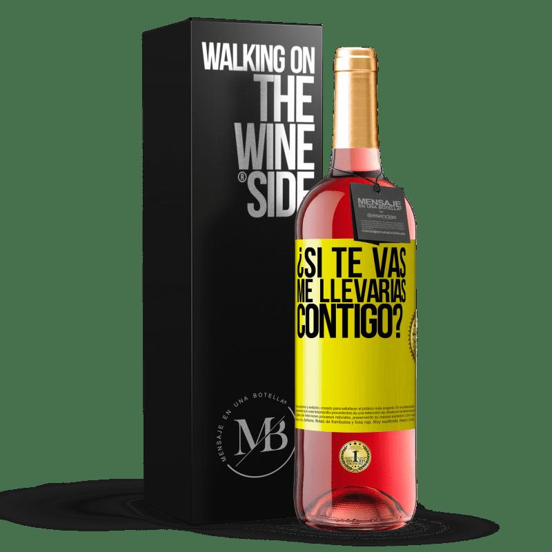 24,95 € Envoi gratuit   Vin rosé Édition ROSÉ si tu partais, m'emmènerais-tu avec toi? Étiquette Jaune. Étiquette personnalisable Vin jeune Récolte 2020 Tempranillo
