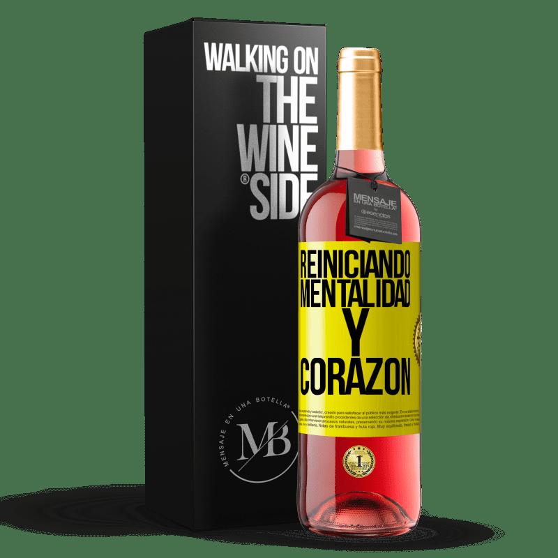 24,95 € Envoi gratuit   Vin rosé Édition ROSÉ Réinitialisation de la mentalité et du cœur Étiquette Jaune. Étiquette personnalisable Vin jeune Récolte 2020 Tempranillo