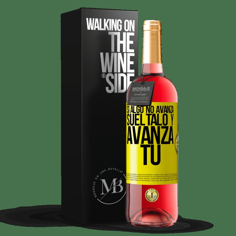 24,95 € Envoi gratuit   Vin rosé Édition ROSÉ Si quelque chose ne progresse pas, relâchez-le et avancez Étiquette Jaune. Étiquette personnalisable Vin jeune Récolte 2020 Tempranillo