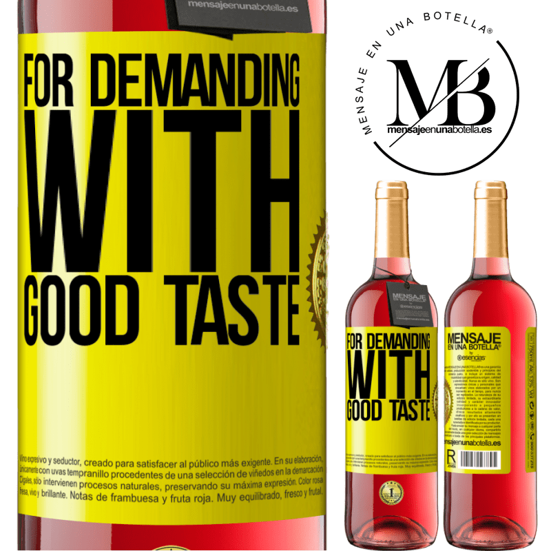 24,95 € Free Shipping   Rosé Wine ROSÉ Edition For demanding with good taste Yellow Label. Customizable label Young wine Harvest 2020 Tempranillo