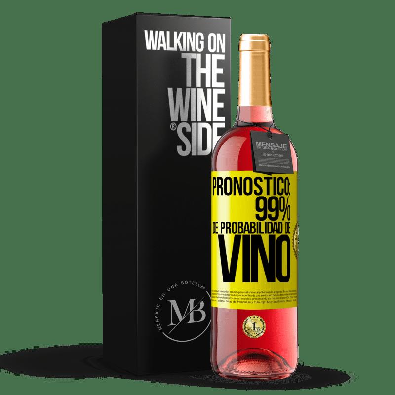 24,95 € Envoi gratuit   Vin rosé Édition ROSÉ Prévision: 99% de chances de vin Étiquette Jaune. Étiquette personnalisable Vin jeune Récolte 2020 Tempranillo