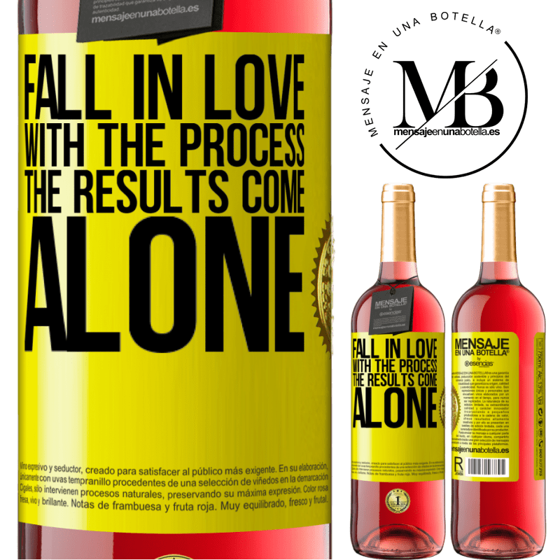 24,95 € Free Shipping | Rosé Wine ROSÉ Edition Fall in love with the process, the results come alone Yellow Label. Customizable label Young wine Harvest 2020 Tempranillo