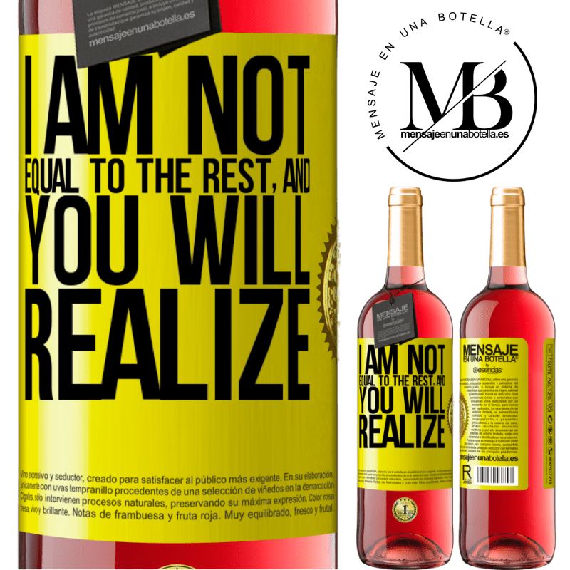 24,95 € Free Shipping | Rosé Wine ROSÉ Edition I am not equal to the rest, and you will realize Yellow Label. Customizable label Young wine Harvest 2020 Tempranillo