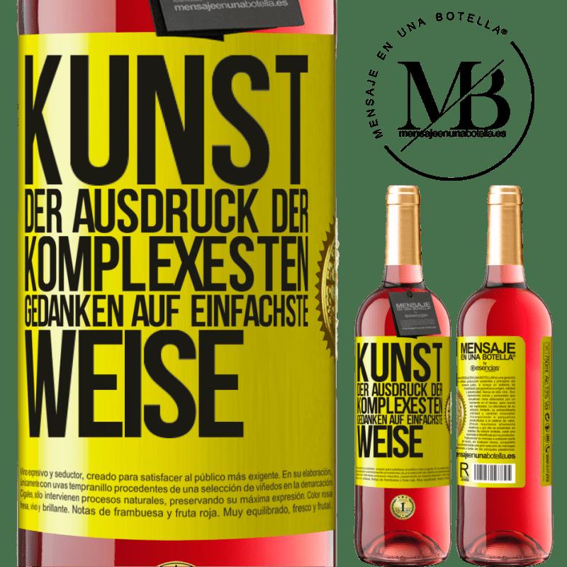 24,95 € Kostenloser Versand   Roséwein ROSÉ Ausgabe KUNST. Der Ausdruck der komplexesten Gedanken auf einfachste Weise Gelbes Etikett. Anpassbares Etikett Junger Wein Ernte 2020 Tempranillo