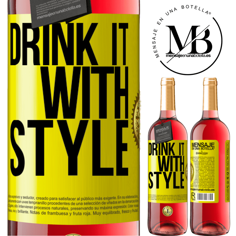 24,95 € Free Shipping | Rosé Wine ROSÉ Edition Drink it with style Yellow Label. Customizable label Young wine Harvest 2020 Tempranillo