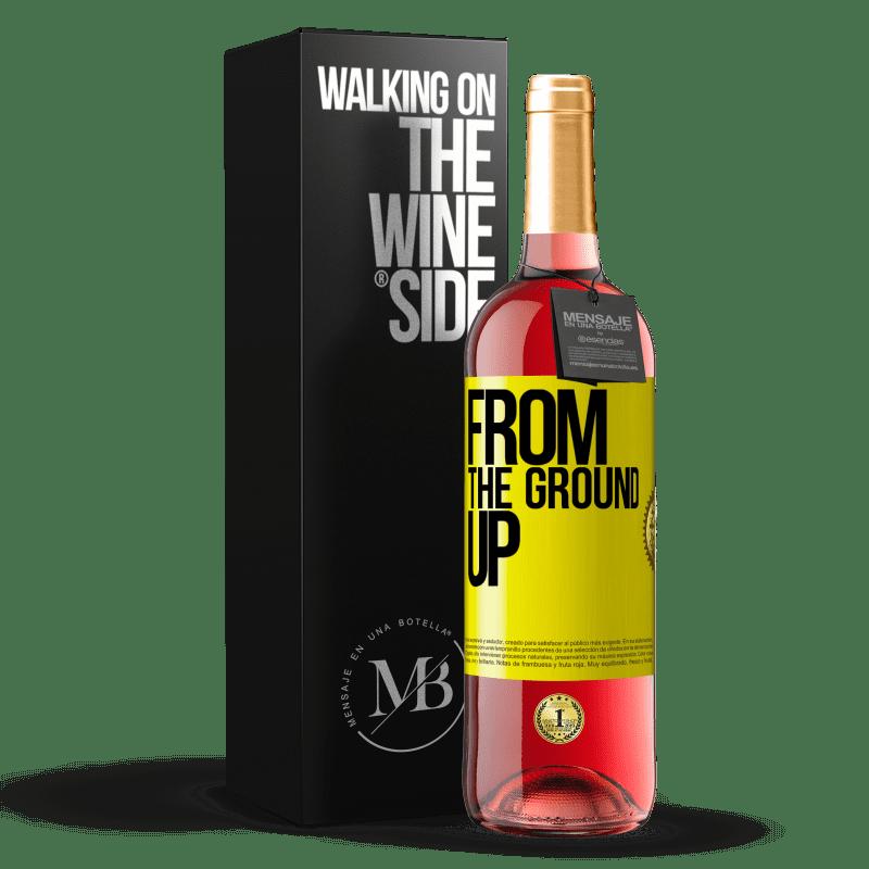 24,95 € Envoi gratuit | Vin rosé Édition ROSÉ From The Ground Up Étiquette Jaune. Étiquette personnalisable Vin jeune Récolte 2020 Tempranillo