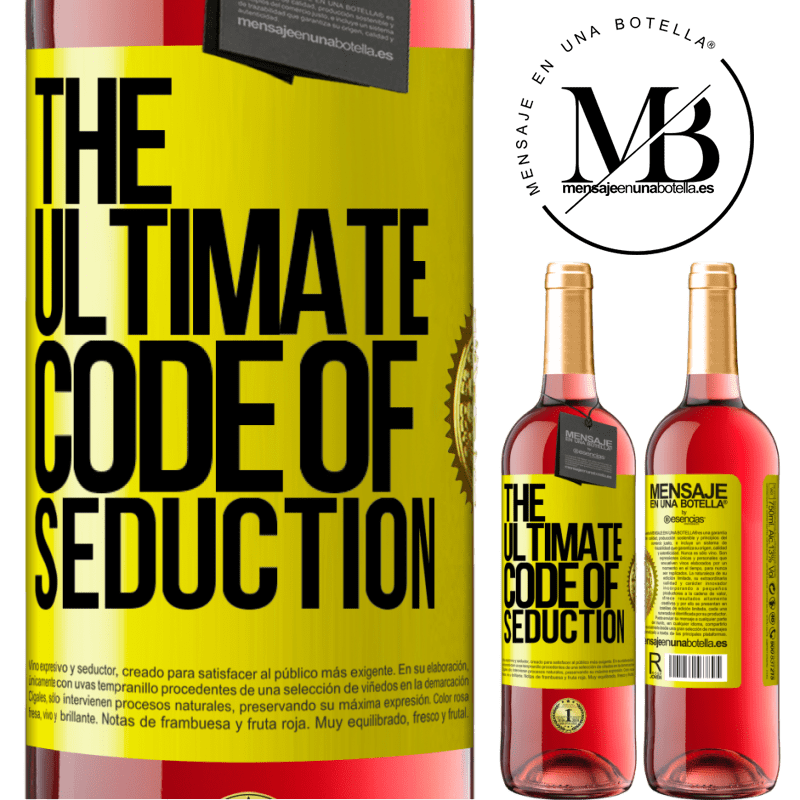 24,95 € Free Shipping | Rosé Wine ROSÉ Edition The ultimate code of seduction Yellow Label. Customizable label Young wine Harvest 2020 Tempranillo